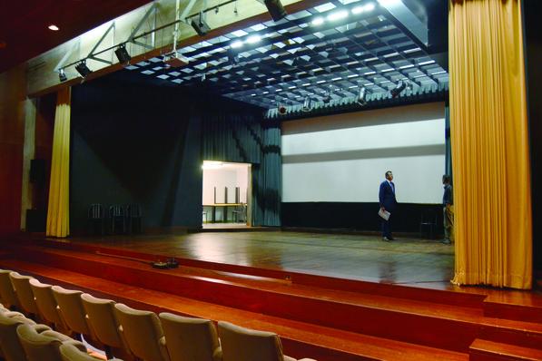 O Auditório tem vários problemas de humidade e infiltração / Foto: Pedro Santos Ferreira