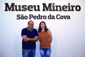 Daniel Vieira e Micaela Santos no Museu Mineiro / Foto: Pedro Santos Ferreira