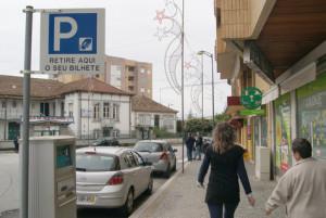 O estacionamento é pago no centro de Gondomar / Foto: Pedro Santos Ferreira