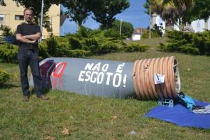 Paulo Silva, porta-voz do Movimento em Defesa do Rio Tinto / foto de Ricardo Vieira Caldas
