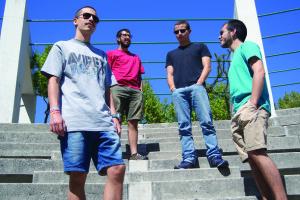 António Correia, Tiago Fonseca, Luís Dinis e Luís Leitão são os elementos da banda gondomarense / Foto: Pedro Santos Ferreira