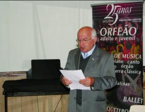 Fernando Vieira, presidente do FIDES - Orfeão de Valbom / Foto: Pedro Santos Ferreira
