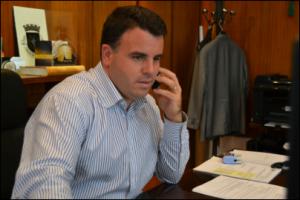 Marco Martins no gabinete presidencial da Câmara Municipal de Gondomar / Foto: Ricardo Vieira Caldas