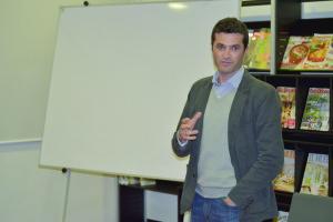 Tomás Magalhães Carneiro modera as sessões / Foto: Pedro Santos Ferreira