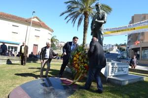 Marco Martins e Daniel Vieira recordaram os ex-combatentes falecidos / Foto: Ricardo Vieira Caldas