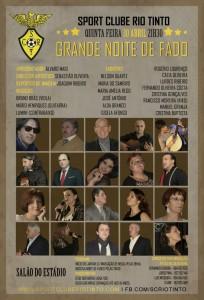 Cartaz da Noite de Fados do Sport Clube de Rio Tinto / Direitos Reservados