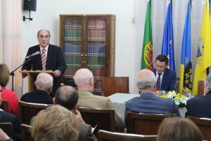 Manuel Rosas abriu a sessão que contou com a presença de Luís Filipe Araújo/ Foto: José Pedro Oliveira