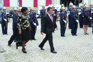 Marco Martins recebeu a embaixadora nos Paços do Concelho