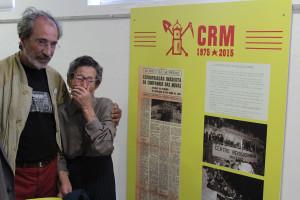 """Pedro Fernandes Aguiar e """"Tia Aurora"""", visitantes da exposição"""