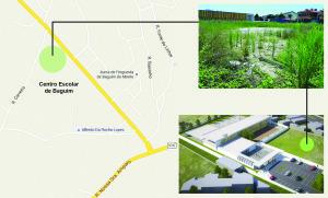 Localização da Unidade de Saúde de Baguim do Monte / Arquivo Vivacidade