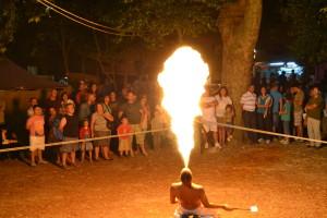 Espetáculo de fogo / Foto: Arquivo Vivacidade