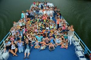 Cerca de mil alunos do concelho participaram na viagem de barco pelas margens do rio Douro/ Foto: Direitos Reservados