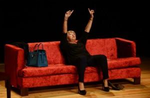 A atriz Ana Bola inaugurou o Festival de Teatro / Foto: Direitos Reservados
