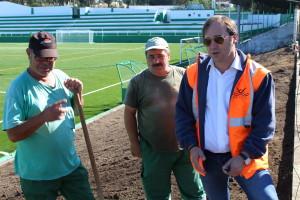 Jardim em construção no Atlético de Rio Tinto / Foto: PSF