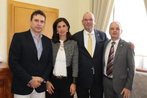 Pedro Moura, Sandra Almeida, Ronald Kramer e Didler Leroy / Foto: PSF
