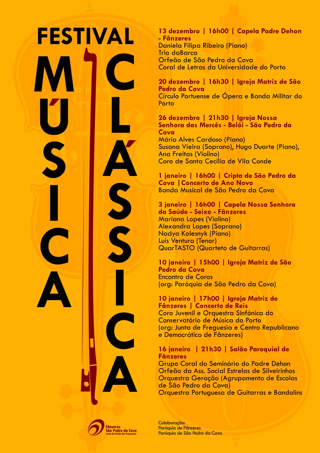 Cartaz I Festival Música Clássica