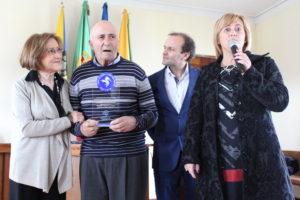 Cecília Pedroto (à esq.) entregou o galardão ao ex-guarda-redes do FCPorto