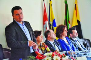 Marco Martins e parte da equipa de vereadores