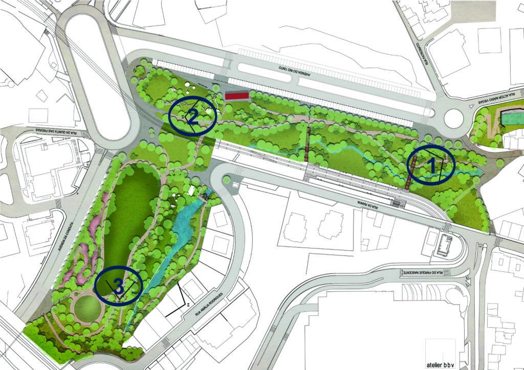 Projeto Parque Urbano de Rio Tinto . O centro da cidade passará a ter uma ampla zona com equipamentos desportivos e espaços de lazer