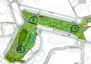 Projeto Parque Urbano de Rio Tinto: o centro da cidade passará a ter uma ampla zona com equipamentos desportivos e espaços de lazer / Foto: Direitos Reservados