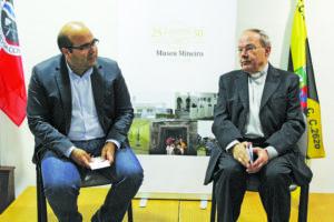 Daniel Vieira e D. Januário Torgal no Museu Mineiro / Foto: Pedro Santos Ferreira