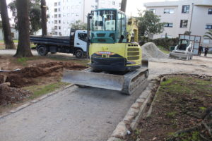 Obras na Quinta das Freiras - fevereiro 2017